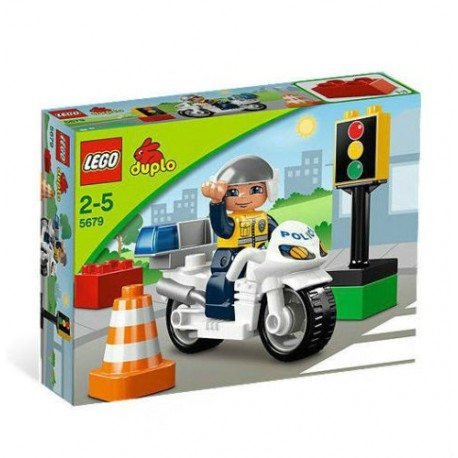 lego duplo 5679 police bike set building toy figure set new in box sealed