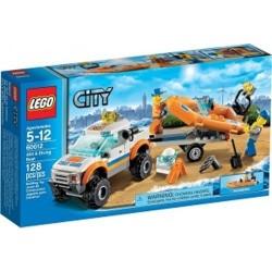 Lego City 60012 parti őrség 4x4 terepjáró teherautó és búvár hajó