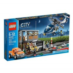 lego city 60009 helicopter police arrest set