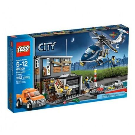 lego city 60009 helicopter police arrest set